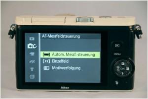 Zwischen drei Autofokus-Messmethoden können Sie bei der Nikon 1 wählen