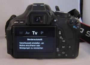 In der Blendenautomatik geben Sie die Belichtungszeit vor – die Kamera wählt dazu eine passende Blende