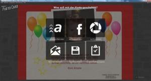 Im letzten Schritt können Sie bei Ashampoo Photo Card auswählen, ob Sie die Fotokarte speichern oder ins Internet hochladen wollen.